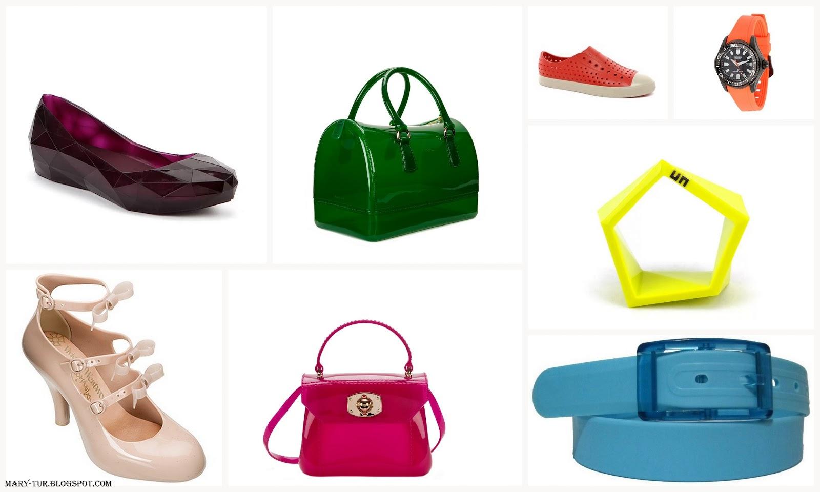 Немного самоиронии: обувь, сумки и аксессуары из резины
