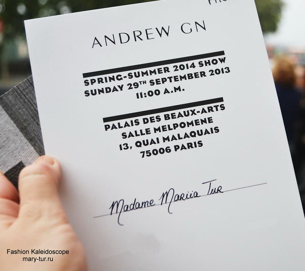 My Paris Fashion Week: Andrew GN Spring 2014