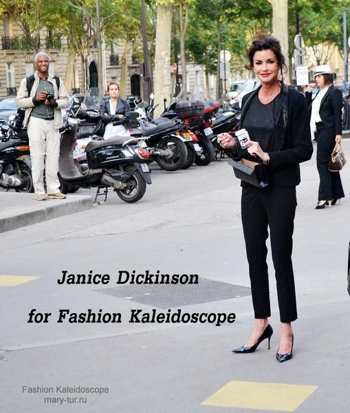 One day from Paris Fashion Week: короткое интервью с Janice Dickinson, показ Gosia Baczynska, платье Anna Ivanova  и брошь Diana Serebrova