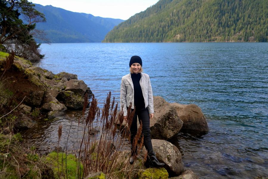 Путешествия: Озеро Crescent, дождевой лес Hoh и закат на пляже Тихого Океана