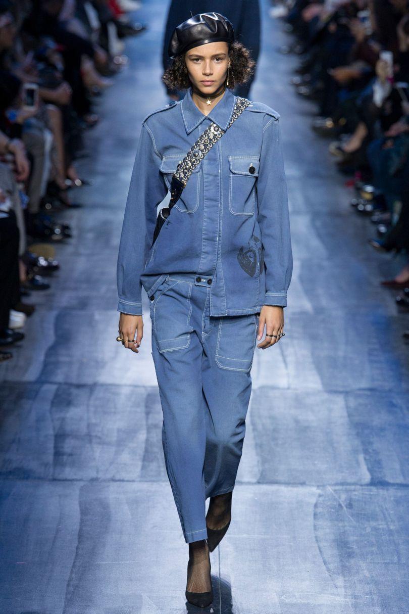 Пять главных модных тренда сезона Осень-Зима 2017/2018. Деним. Christian Dior