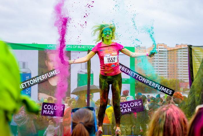 COLORS DE BENETTON собрал самых позитивных и активных на Красочном забеге